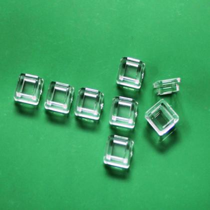 LED光学透镜 5050方形贴片透镜 单颗亚克力LED透镜