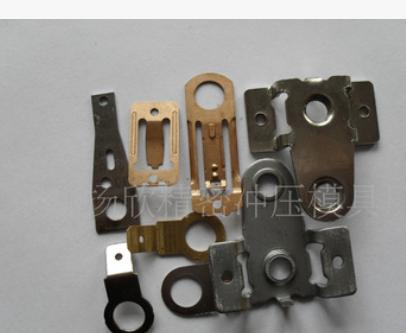 温度控制器触点底座弹片连续模具电池磷铜黄铜充电器接触金属贴片