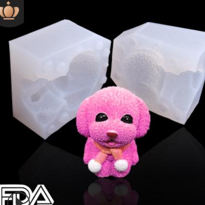 3D立体泰迪小狗硅胶模具牛油火锅模具狗狗慕斯蛋糕慕斯烘培模具
