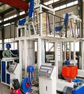 SJL低密度聚乙烯LDPE材质双层塑料薄膜吹塑机,商品捆扎绳设备 举报