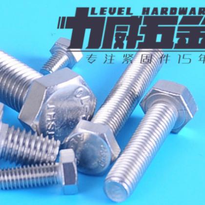 304不锈钢外六角螺丝 螺栓M4 M5 M6 M8 M10 M12 M14 M16 M18 M20