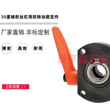 厂家直销 30度梯形丝杠用防转动固定件 轴承型 MTQDB 专业定做