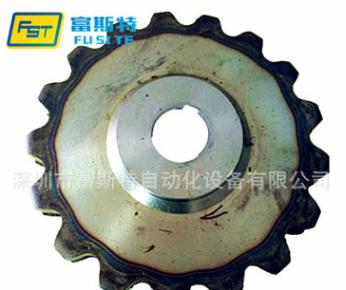 供应45#钢工业50.8链条链轮非标订做双排齿轮自动喷涂线主动链轮