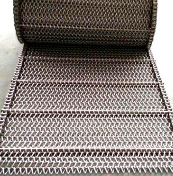 精鹰不锈钢人字形网带 挡板式链条式网带加工定制输送机传动网链