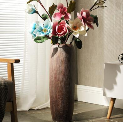 插花大花瓶客厅家居装饰品仿真花器欧式简约摆件创意落地陶瓷花瓶