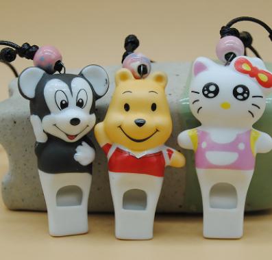 手工陶瓷原创大号立体KT猫工艺品 超萌陶瓷口哨 可爱卡通求救口哨