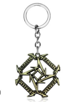 新款 欧美时尚金属乐队 Metallica 标志钥匙扣挂件 2色速卖通热销