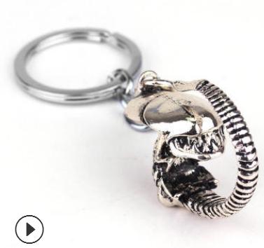 欧美影视 AVP 3D 异形大战铁血战士Alien钥匙扣 精致挂件一件代发