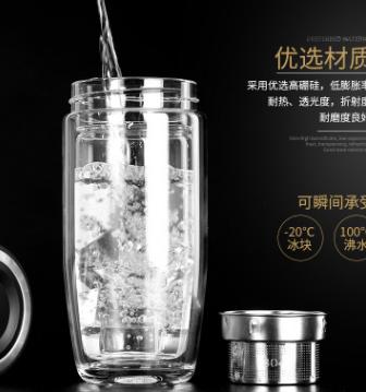 创意礼品双层玻璃杯新款鹅蛋形玻璃杯子 男女学生泡茶杯批发定制