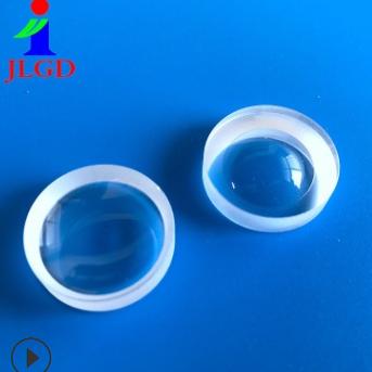 晶亮光电厂家定做15mm石英玻璃凹透镜光学镜片镀膜加工聚光透镜