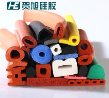 硅胶发泡条 耐高温橡胶海绵条 彩色海绵挤出密封条 硅胶条厂家