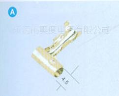 厂家销售DJ2211-4B φ4弯头形车用端子 公母端子 圆柱端子