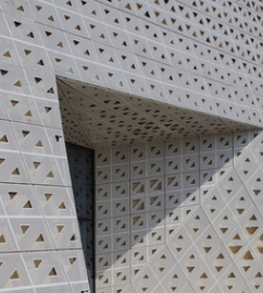 氟碳漆聚酯烤漆雕花铝板冲孔造型铝单板金属加工材铝及装饰材料