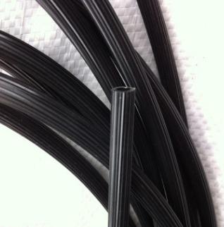 厂家生产pvc单层软管条纹光亮防滑pvc管衣架防滑套管