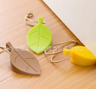 厂家直供硅胶树叶门挡 创意卡通硅胶门塞 可挂儿童安全门卡