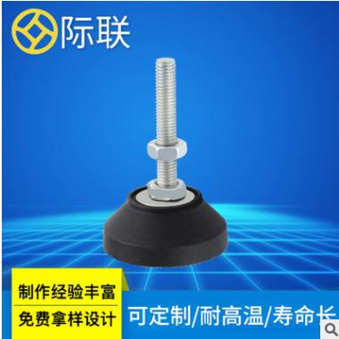 广东厂家直销M10黑色蹄脚脚杯防静电纹路防滑调节脚 尼龙脚杯