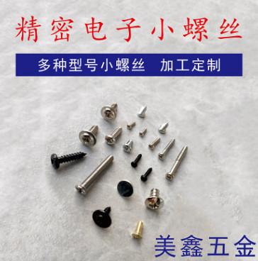 厂家直销不锈钢小微型螺丝 一字螺丝 十字螺丝来样来图加工定制