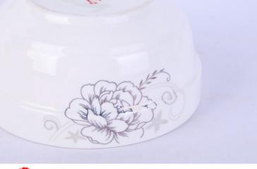产地货源供应金花护边碗 圆形陶瓷餐具碗 多规格强化瓷饭碗汤碗批