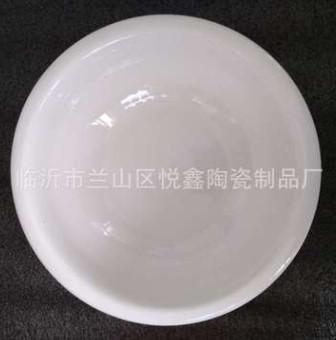 现货批发陶瓷汤碗汤古 纯白强化瓷大汤碗 餐厅饭店家用中式大汤碗