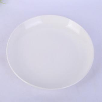 现货供应强化瓷常规果盘 陶瓷糖果坚果水果盘子 多尺寸纯白色果盘