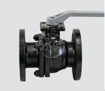 美标发黑球阀带锁固定式高平台阀门全通径两通球阀150LB磅浮动式