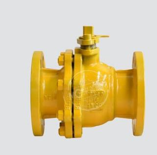 天燃气球阀天然气法兰球阀黄色油漆球阀天然气燃气第二代球阀