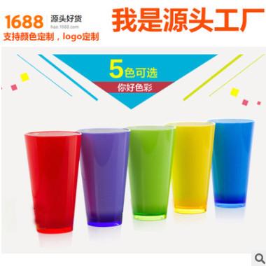 工厂直销情侣双色杯 创意渐变色厚壁牙刷塑料杯双色注塑工艺口杯