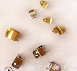 厂家直销插头端子美规插座五金件磷铜圆孔插头片定制