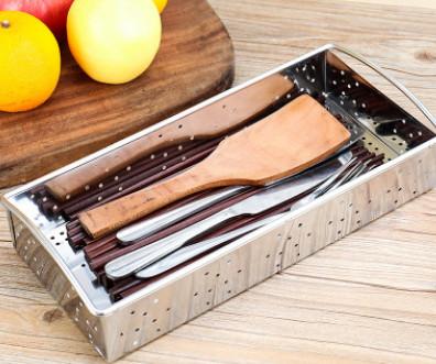 304不锈钢筷子盒碗柜沥水笼架筷笼餐具收纳盒厨房置物架筷子筒
