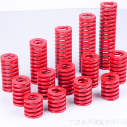 压缩弹簧 名力牌 红色外径60*175mm中负荷模具弹簧 一件起批
