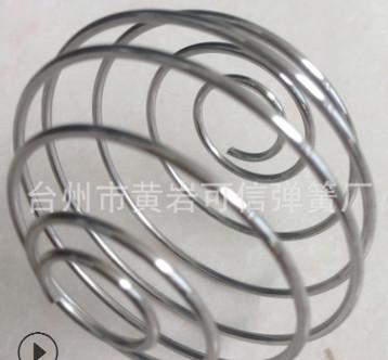 供应弹簧球 压缩弹簧球批发定制 食品级304材质铁丝工艺球