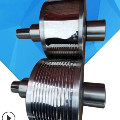 厂家直销冷轧带肋轧钢筋硬质合金轧辊三维立体轧辊高效冷轧螺纹钢