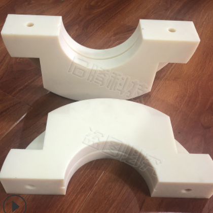 厂家定制MC尼龙加工件含油耐磨尼龙轴套管异型件塑料尼龙件自润滑