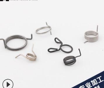 厂家直销 做工精密耐用扭转弹簧管夹 模具扭簧 汽车配件扭簧