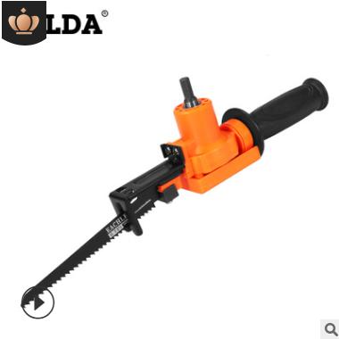 电钻改装电锯电动往复锯家用马刀锯电钻转曲线锯便捷式木工切割