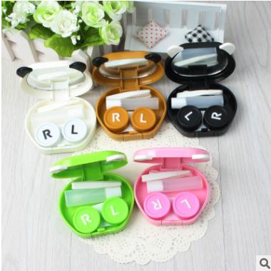 爆款可爱熊猫表情隐形眼镜盒 美瞳伴侣盒 护理盒6001