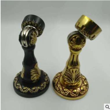 厂家供应黑色纯铜门吸 中式实心 全铜拉手 铜合页美式简约把手