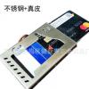 厂家不锈钢真皮黄牛皮防RFID金属银行卡门禁卡多功能金属钱包夹