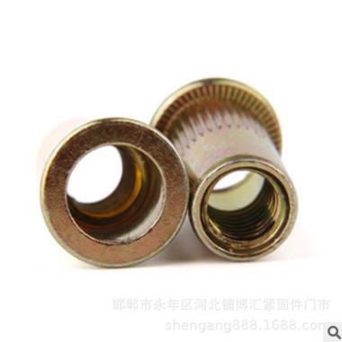 【厂家直销】铆螺母 平头竖纹拉铆螺母 小头条纹 大头条纹 M3-M12