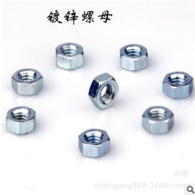 【厂家直销】 4.8国标螺母 六角螺母 镀锌螺母 M6-24