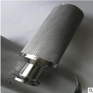 呼吸机滤芯 真空上料机不锈钢烧结网滤芯 呼吸器过滤筒厂家定制