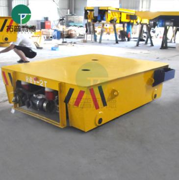 拓普利德用于模具车间电动平板电瓶搬运车轨道运输设备