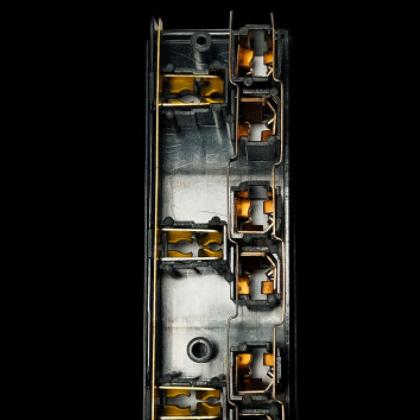 智能插座配件 cnc加工五金配件 排插铜条连体铜条 新国标插套