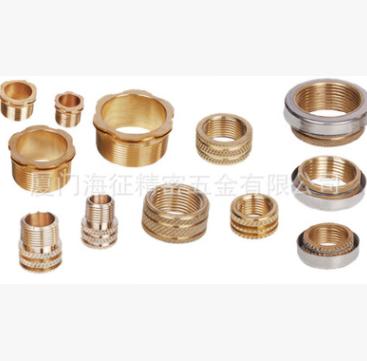 厦门厂家批发优质黄铜镶嵌件 滚花螺母嵌入件
