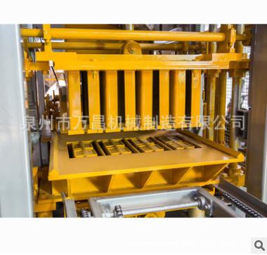 振动液压彩砖机 小型全自动彩色路面砖机 万昌砖机