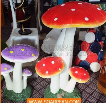 玻璃钢道具 玻璃钢蘑菇道具 室外布置道具 景点装饰道具