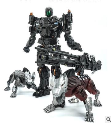 VT01变形玩具金刚KO版禁闭双狗机器人模型电影