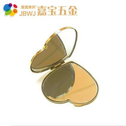 化妆镜 精美金属工艺品化妆镜盒梳妆镜 磁铁开关小镜子厂家直销