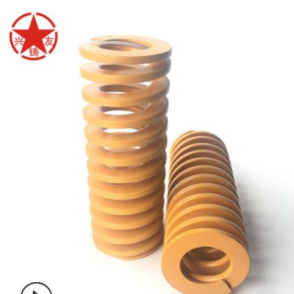 厂家直销冲压注塑黄色矩形扁线模具弹簧现货批发专业生产加工定制