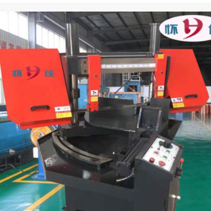 厂家大量销售角度锯床报价优惠保修一年带锯床 旋转液压金属切割